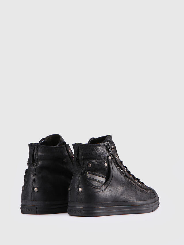 Diesel - EXPO-ZIP, Black Leather - Sneakers - Image 3