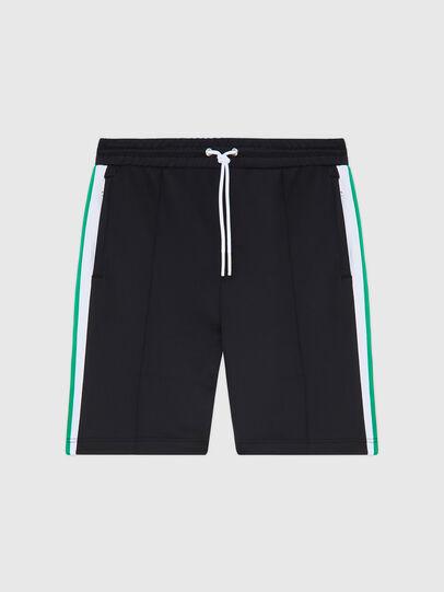 Diesel - P-KURL, Black - Shorts - Image 1
