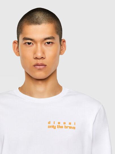 Diesel - T-JUST-LS-N64, White - T-Shirts - Image 3
