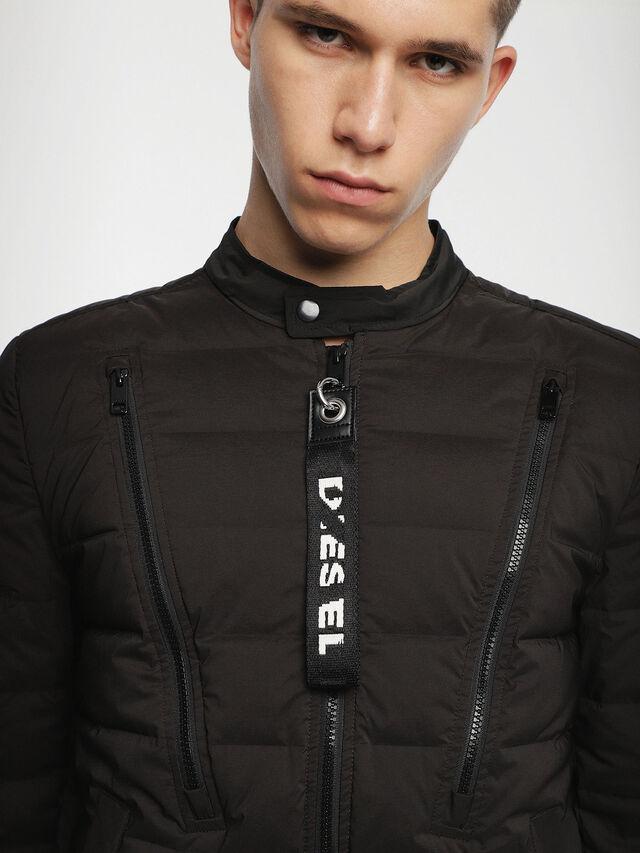 Diesel - W-HANKS, Black - Winter Jackets - Image 4