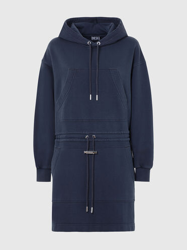 Hoodie dress with double pocket