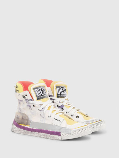 Diesel - S-ASTICO PNT W, White/Pink - Sneakers - Image 2
