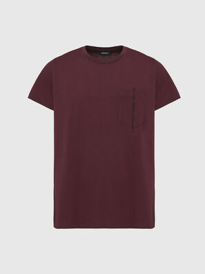 T-RUBIN-POCKET-J1, Red - T-Shirts