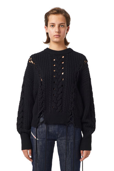 Green Label lace-up pullover