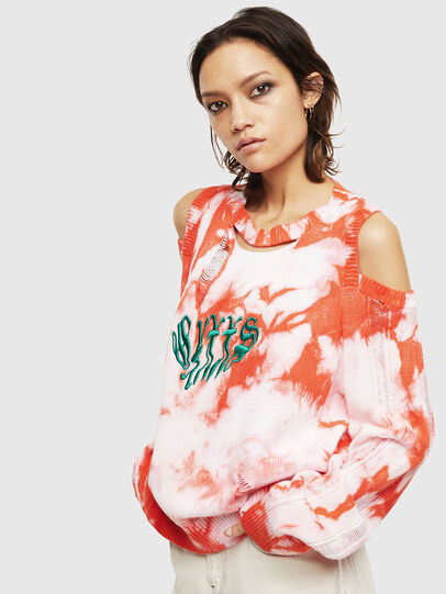 Diesel - M-BOBBY, Pink/White - Knitwear - Image 1