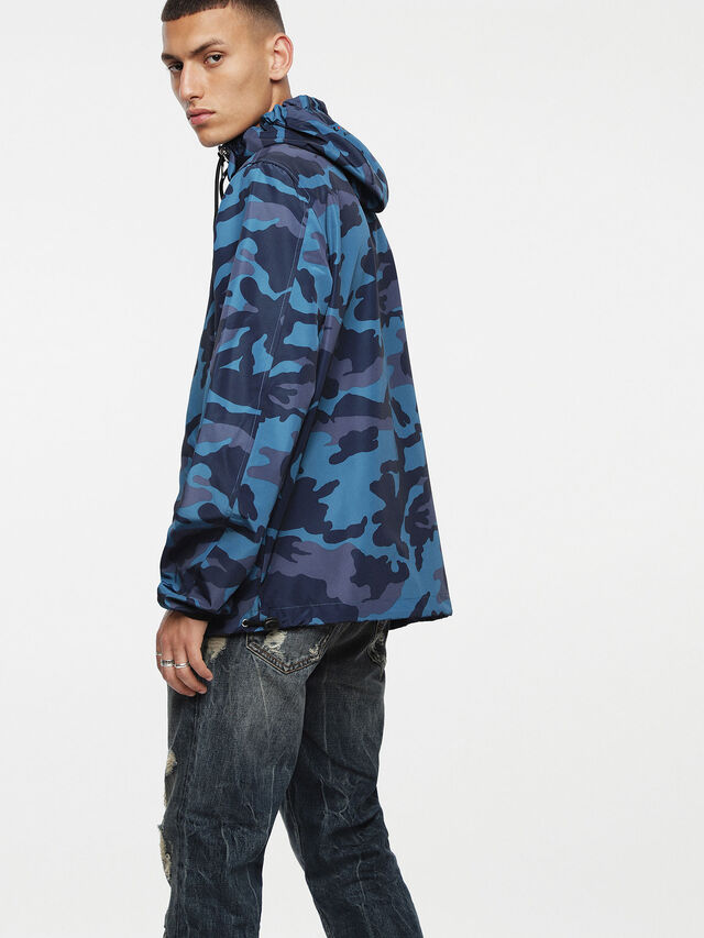 Diesel - J-ACOUSMATIC, Melange Blue - Jackets - Image 2