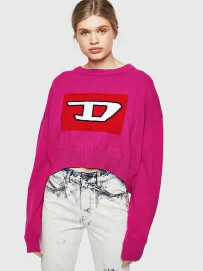 Diesel - M-LINDA, Pink Fluo - Knitwear - Image 1