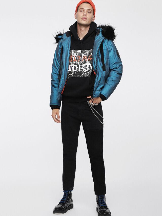 Diesel - W-CODY, Azure - Winter Jackets - Image 8
