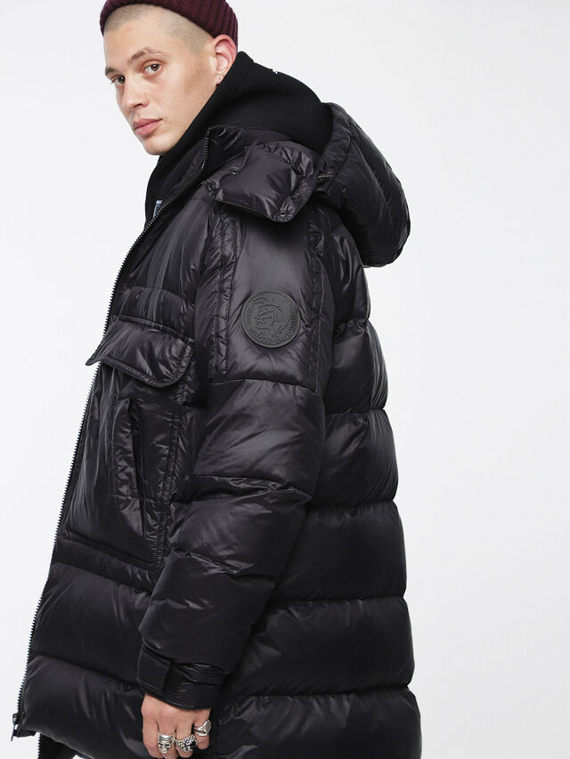Diesel - W-ROGIN, Black - Winter Jackets - Image 4