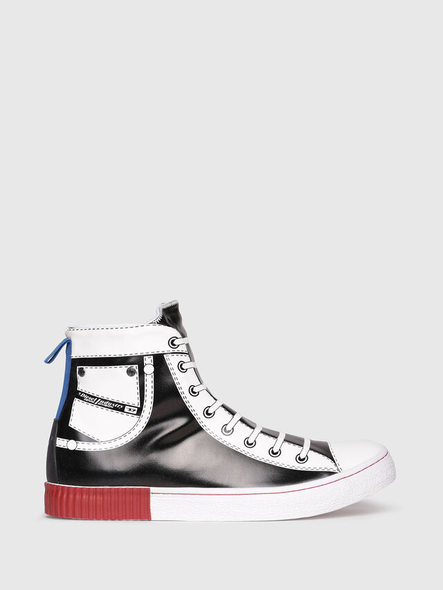 Diesel - S-DIESEL IMAGINEE MID, Black/White - Sneakers - Image 1