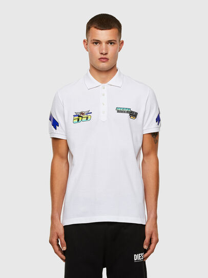 Diesel - ASTARS-T-NIGHT-NEW-B, White - Polos - Image 1