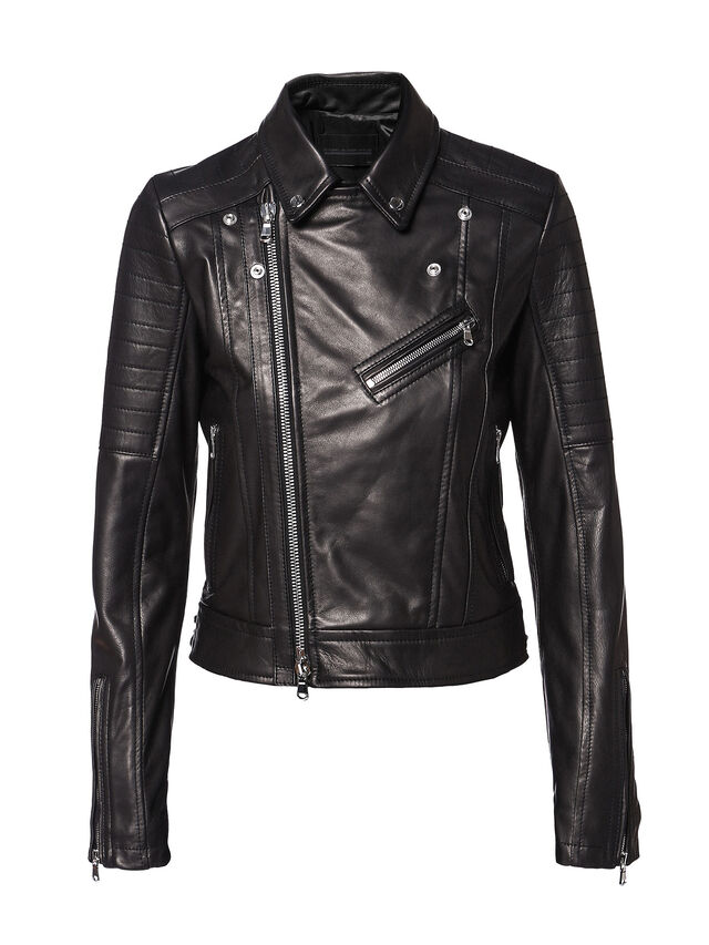 Diesel - LINEW, Black - Leather jackets - Image 5
