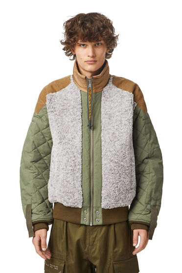 Panelled jacket in frosted fleece