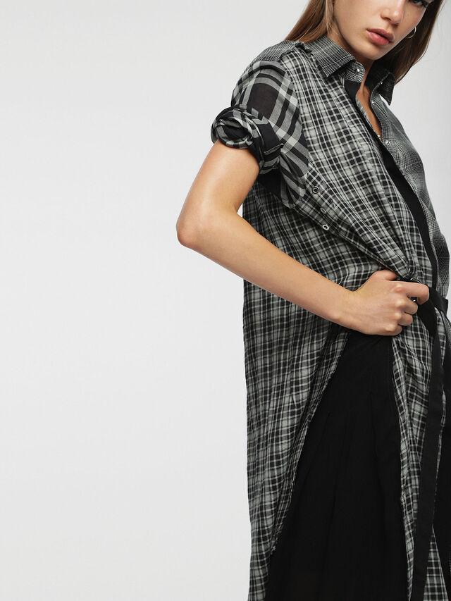 Diesel - D-BAGGY, Gray/Black - Dresses - Image 5