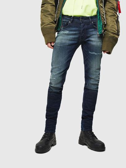 Diesel - Sleenker 0097P, Dark Blue - Jeans - Image 1
