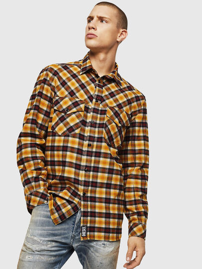 Diesel - S-TOLSTOJ, Yellow Ocher - Shirts - Image 1