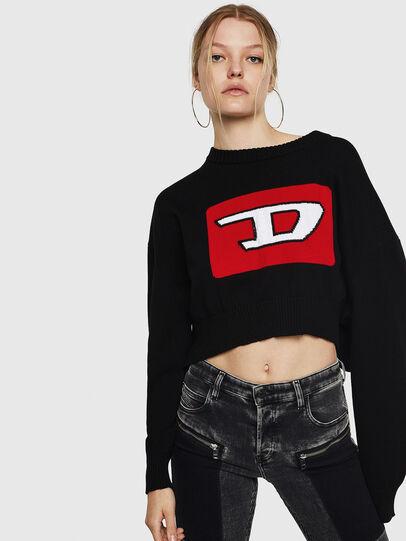 Diesel - M-LINDA, Black/Red - Knitwear - Image 1