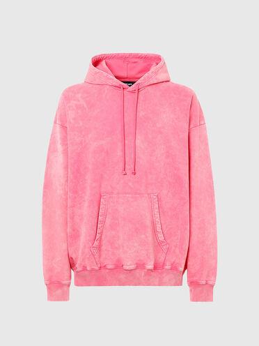Acid-wash cotton hoodie