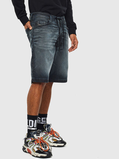 Diesel - D-WILLOH CB JOGGJEANS, Dark Blue - Shorts - Image 4