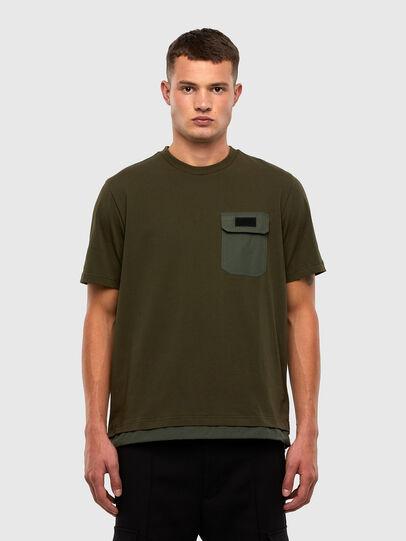 Diesel - T-ARMI, Olive Green - T-Shirts - Image 1