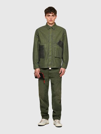 Diesel - D-CORU-SP, Military Green - Denim Shirts - Image 5