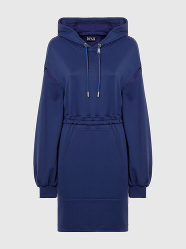 Cut-out hoodie dress