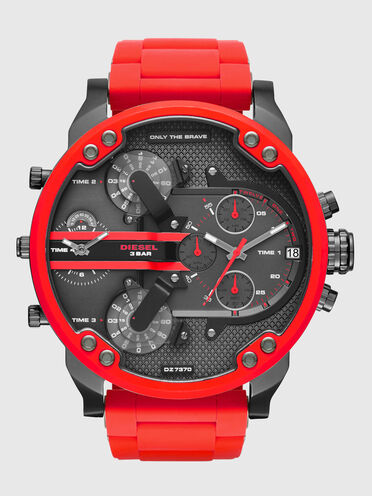 Mr. Daddy 2.0 red metal watch, 55 mm