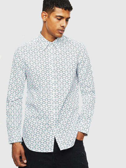 Diesel - S-CLES-D, White - Shirts - Image 1