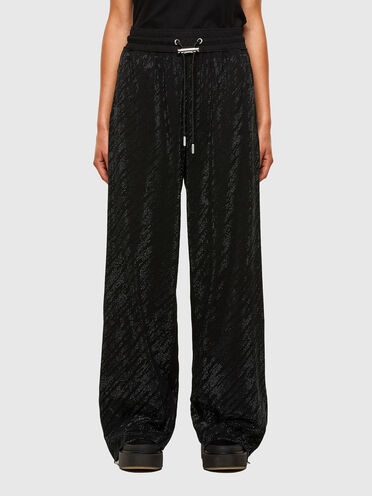 Jersey pants with micro studs