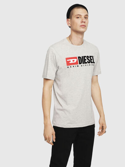 Diesel - T-JUST-DIVISION, Light Grey - T-Shirts - Image 1