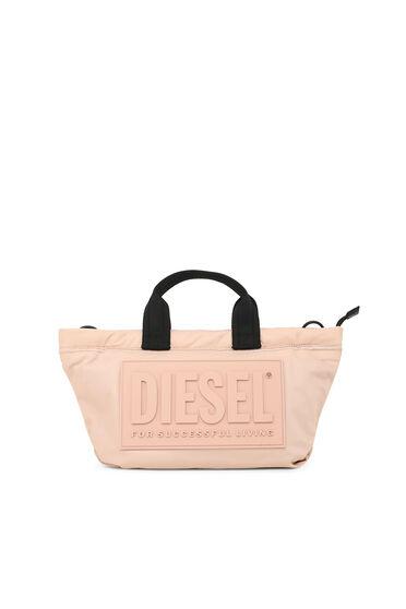Small satchel in padded nylon