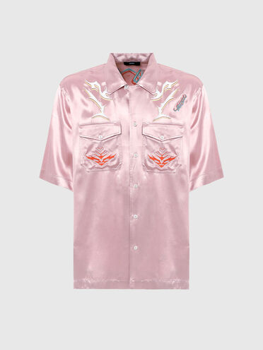 Camp-collar shirt with embroidery