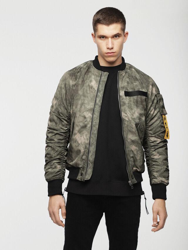 Diesel - W-NOVELS, Green Camouflage - Jackets - Image 1