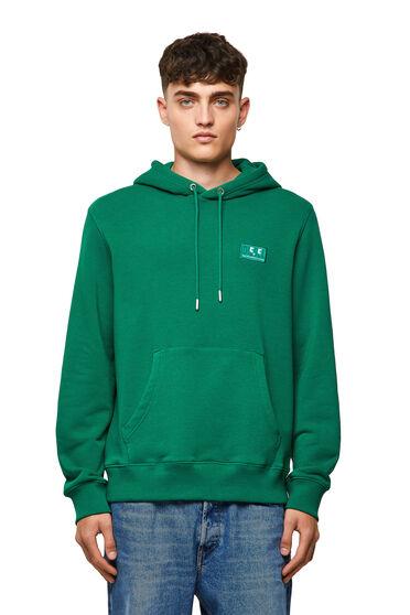 Green Label hoodie with emoji logo