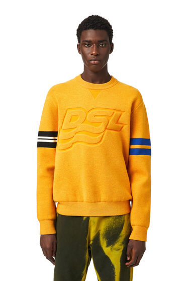 Pullover with embossed-effect logo
