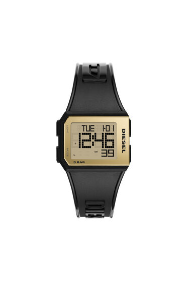 Chopped digital balck-gold watch