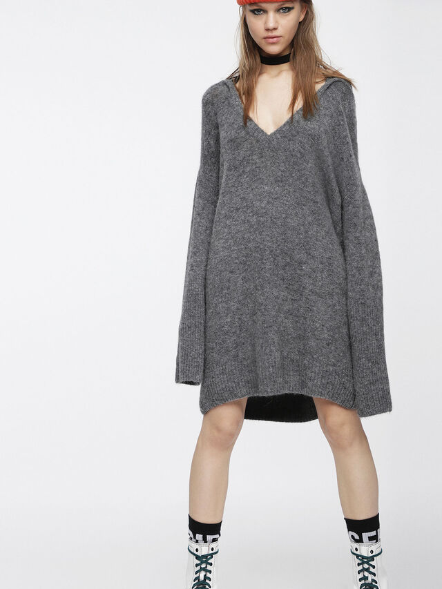 Diesel - M-SOFTY, Grey - Dresses - Image 1