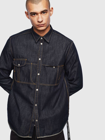 Diesel - D-MILLY, Dark Blue - Denim Shirts - Image 1