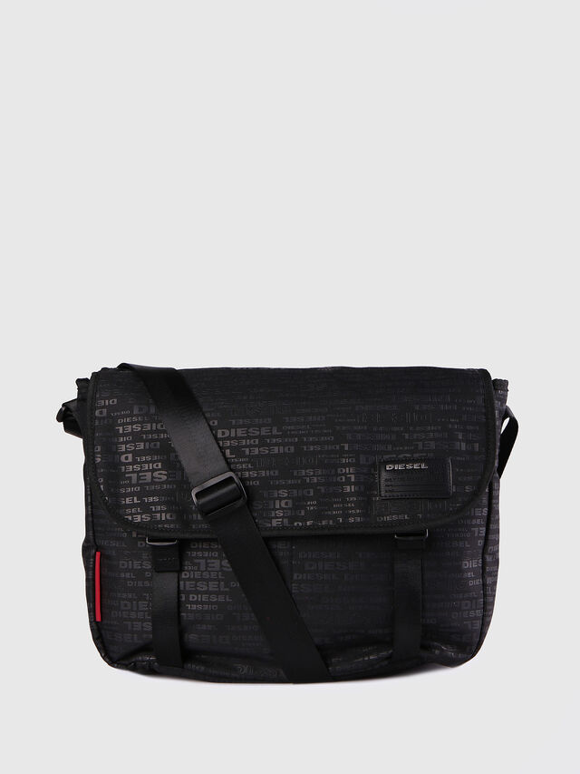 Diesel F-DISCOVER MESSENGER, Black/Red - Crossbody Bags - Image 1