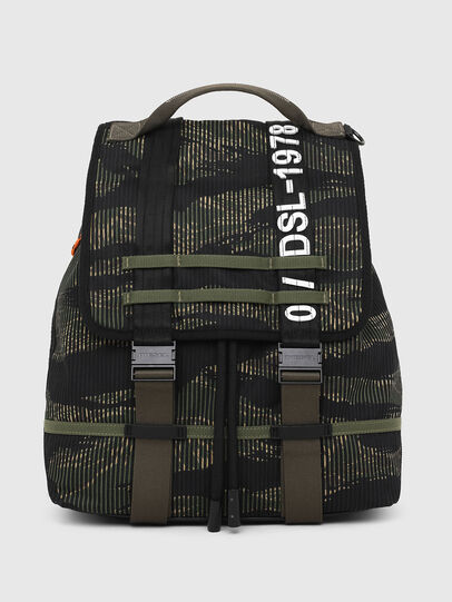 Diesel - VOLPAGO BACK, Green/Black - Backpacks - Image 1
