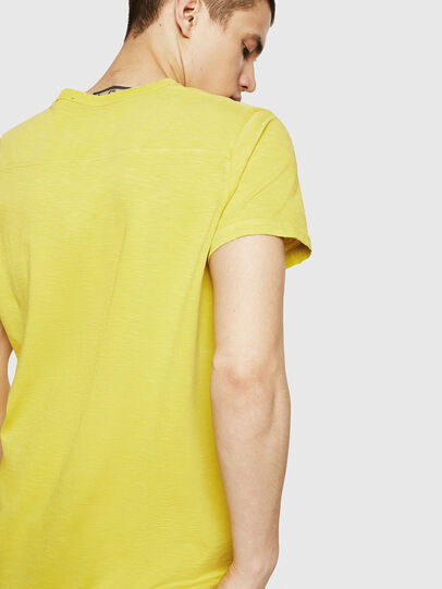 Diesel - T-DIEGO-CUT-A, Yellow - T-Shirts - Image 2