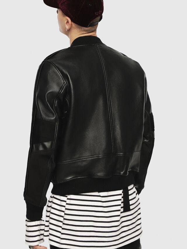 L Yutakis Men Jacket In Bonded Leather And Scuba Diesel