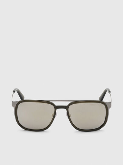 Diesel - DL0294, Olive Green - Sunglasses - Image 1
