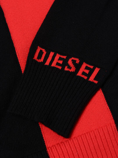 Diesel - KTAPEX, Black/Red - Knitwear - Image 3