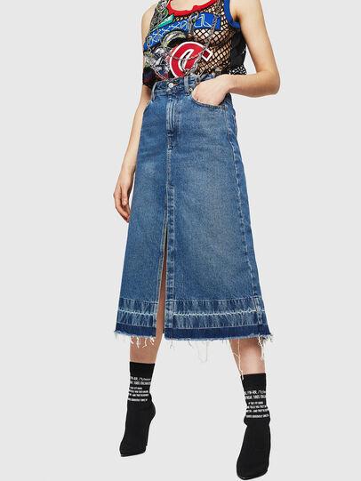 Diesel - DE-INGRID, Medium blue - Skirts - Image 1