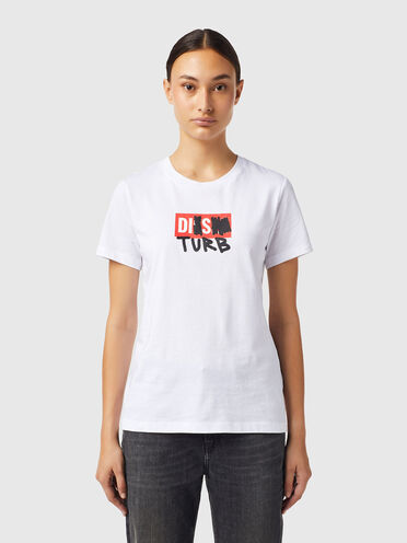 T-shirt with DISTURB logo