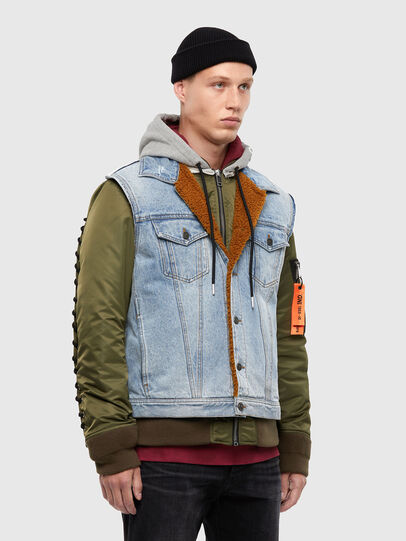 Diesel - W-STORMY, Blue/Green - Winter Jackets - Image 4