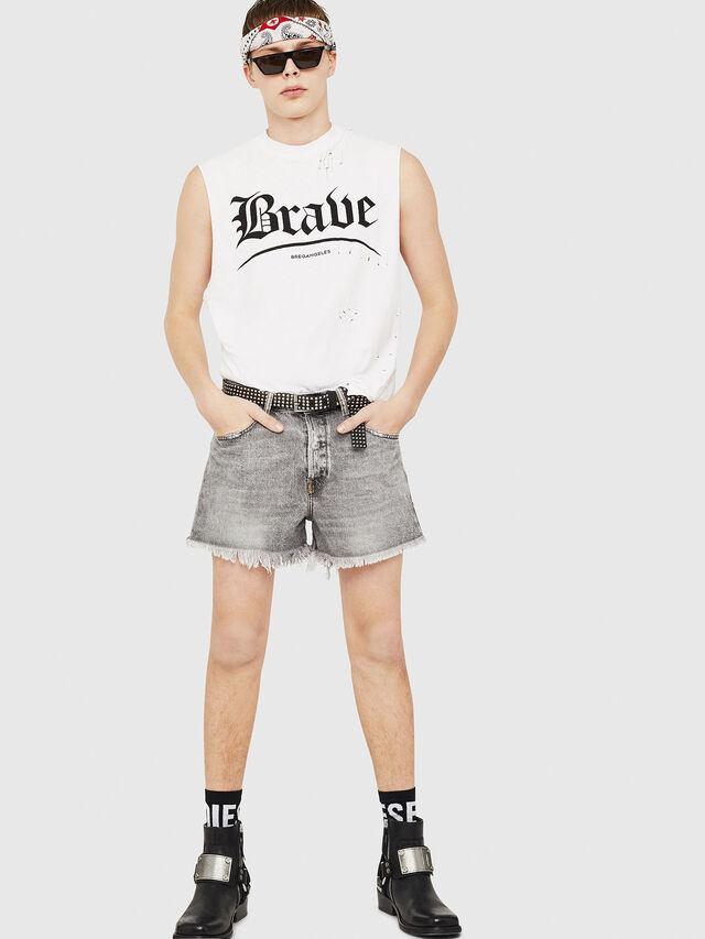 Diesel - D-KORT, Light Grey - Shorts - Image 6