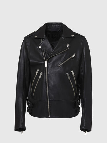 Biker jacket in lamb leather