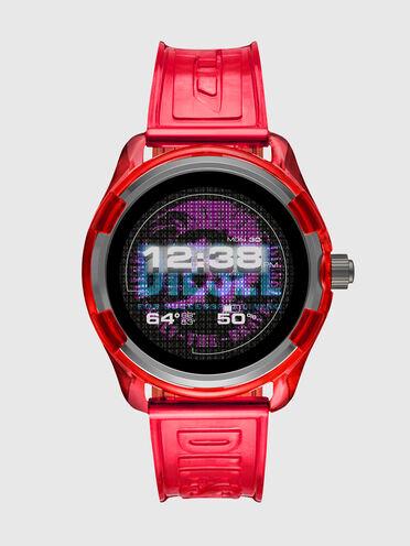 Diesel On Fadelite Smartwatch - Red Transparent
